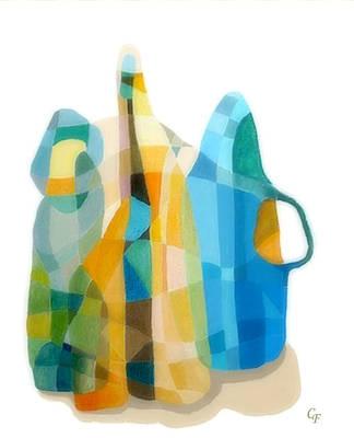 Bottles Still Life Art Print by Carola Ann-Margret Forsberg