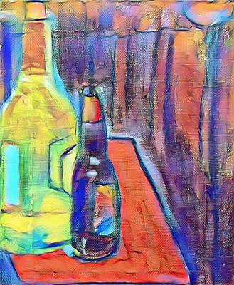 Mixed Media - Bottles-still Life  by Paulo Guimaraes