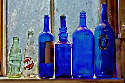 Photograph - Bottles by Suzanne Stout