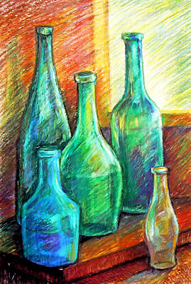 Drawing - Bottles by Svetlana Nassyrov
