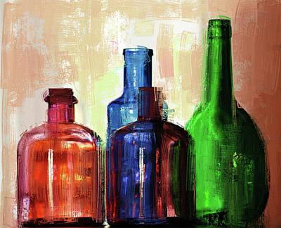 Digital Art - Bottles Up by Yury Malkov