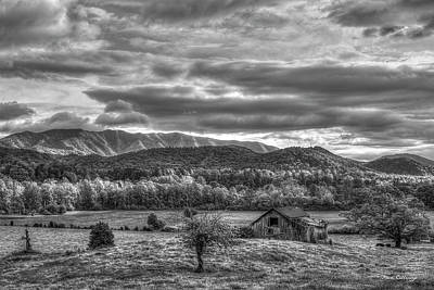 Photograph - Bottom Land B W Great Smoky Mountains Art by Reid Callaway