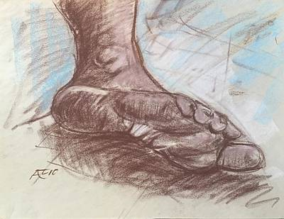 Drawing - Bottom Of Foot by Alejandro Lopez-Tasso