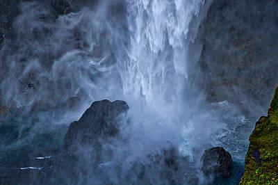 Photograph - Bottom Of Haifoss Waterfall - Iceland by Stuart Litoff