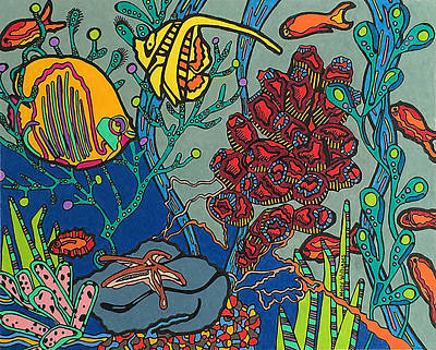 Drawing - Bottom Of The Sea by Molly Williams