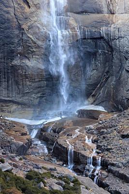 Bottom Part Of Upper Yosemite Waterfall Art Print