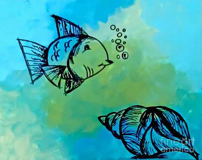 Bottomless Blue Original by Jilian Cramb - AMothersFineArt