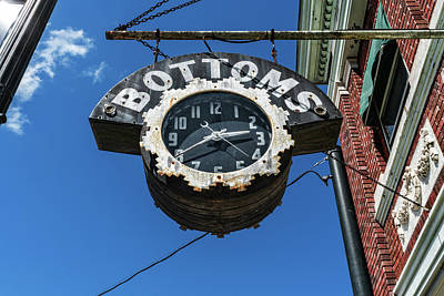 Photograph - Bottoms Clock Sign by Sharon Popek