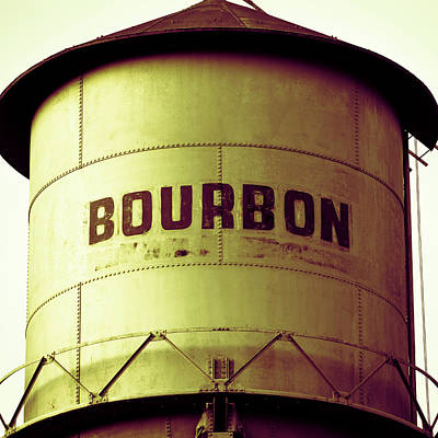 Photograph - Bourbon Whiskey Water Tower - Square Vintage Pub Art by Gregory Ballos