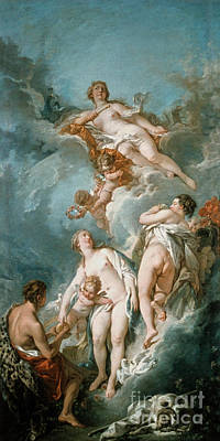 Trojan Painting - Boucher: Judgement Of Paris by Granger