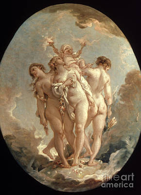 Painting - Boucher: Three Graces, 18 C by Granger