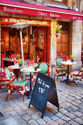 Daytime Mixed Media - Bouchon Lyonnais by George Oze