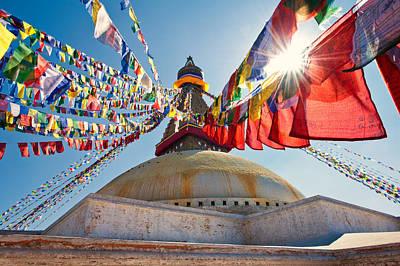 Photograph - Boudhanath Stupa Kathmandu by Ulrich Schade