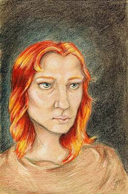 Boudicca Drawing - Boudicca by C Nick