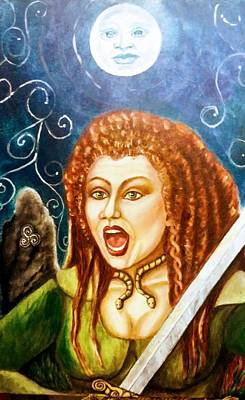 Painting - Boudicca  Let Not Our Daughters Be Forgotten by Janice T Keller-Kimball