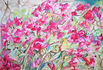Painting - Bougainvillea Abstraction by Esther Newman-Cohen
