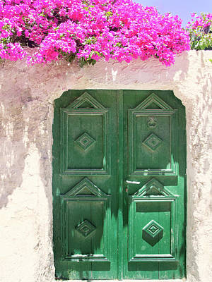 Photograph - Bougainvillea And Green Door by Dominic Piperata