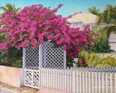 Painting - Bougainvillea Crown by Eddie Minnis
