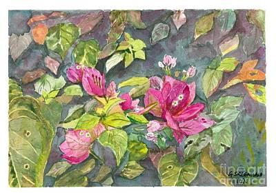Painting - Bougainvillea by Gita Vasa