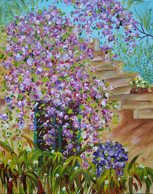 Painting - Bougainvillea  by Judith Rhue