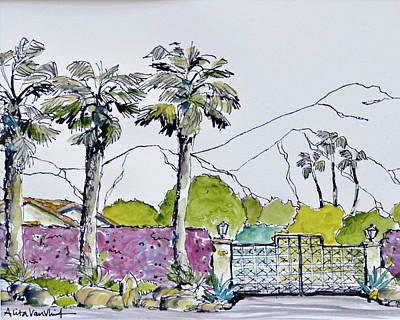 Bougainvillea Walled Garden Original by Alita VanVliet