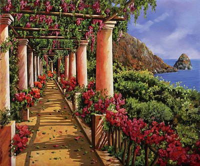 Gulf Coast Wall Art - Painting - Bouganville Sul Golfo by Guido Borelli