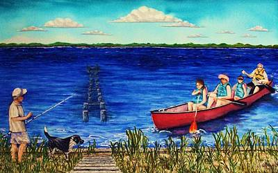 Painting - Bouge Sound Summer Outing by Jeanette Stewart