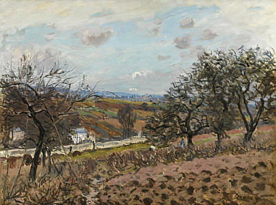 Painting - Bougival by Alfred Sisley