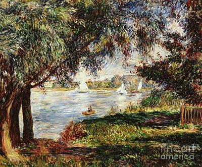 Painting - Bougival by Pierre Auguste Renoir