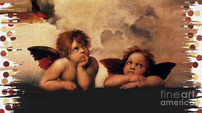 Art Print featuring the painting Bouguereau Painting Fresh Paint  by Catherine Lott