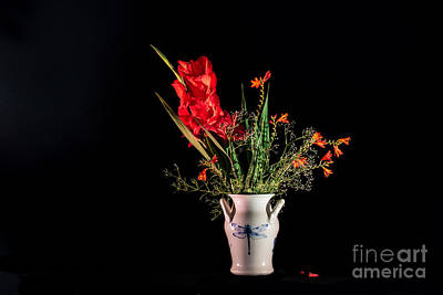 Red Gladiolus Photograph - Bouquet In Red by Torbjorn Swenelius
