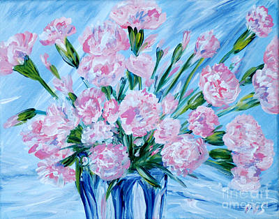 Bouguet Of Carnations.  Joyful Gift. Thank You Collection Art Print