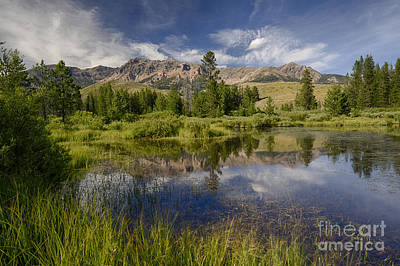 Photograph - Boulder Mountains Reflected by Idaho Scenic Images Linda Lantzy