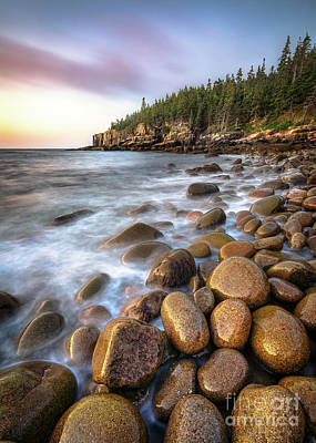 Mdi Photograph - Boulder Beach Acadia by Benjamin Williamson