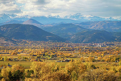 Photograph - Boulder Colorado Autumn Scenic View by James BO  Insogna