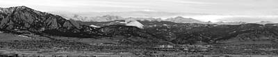 Photograph - Boulder Colorado Black And White Panorama by James BO Insogna