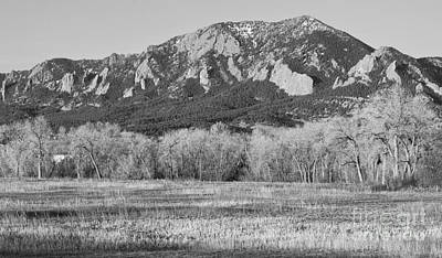 Boulder Colorado Flatiron View From Jay Rd Bw Art Print