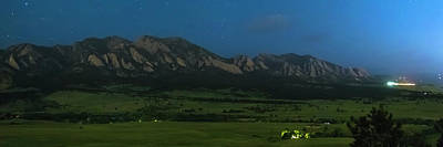 Photograph - Boulder Colorado Foothills Nighttime Panorama by James BO Insogna