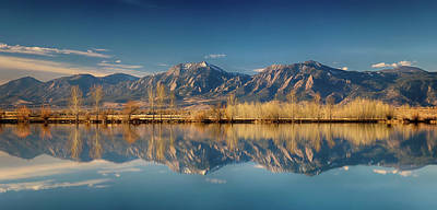 Photograph - Boulder Colorado Rocky Mountains Flatirons Reflections by James BO Insogna