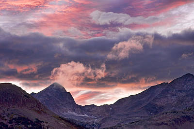 Striking-.com Photograph - Boulder County Colorado Indian Peaks At Sunset by James BO  Insogna