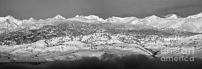 Photograph - Boulder County Continental Divide Panorama Bw by James BO Insogna