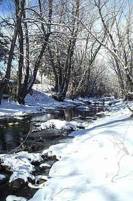 Boulder Creek After A Snowstorm Art Print