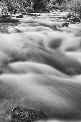 Photograph - Boulder Creek In Black And White by James BO  Insogna