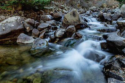 Photograph - Boulder Creek Water Falling by James BO  Insogna
