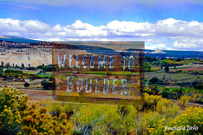 Photograph - Boulder by David Lee Thompson