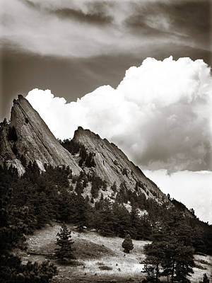 Large Cloud Over Flatirons Art Print by Marilyn Hunt