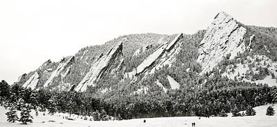Photograph - Boulder Flatirons Colorado 1 by Marilyn Hunt