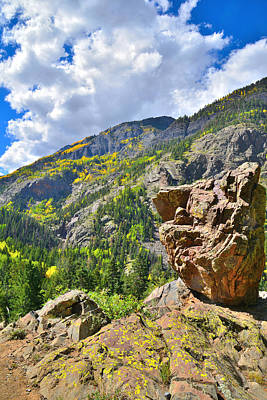 Photograph - Boulder In Ouray Canyon by Ray Mathis