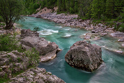 Photograph - Boulder In The River - Slovenia by Stuart Litoff
