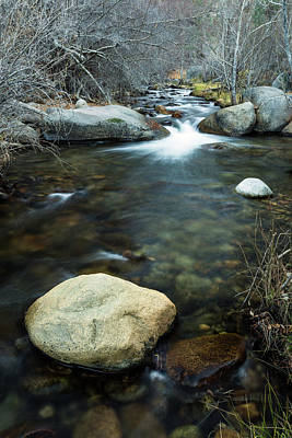 Photograph - Boulder In The Stream by Rick Strobaugh